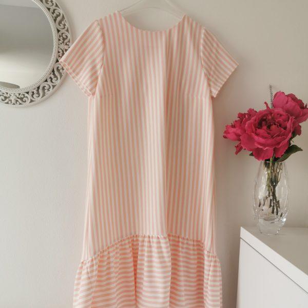 haljina sa prugicama u 4 boje,roza,plava,crvena siva