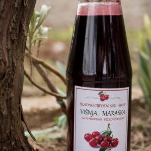 hladno cijeđeni sok od višnje-sirup
